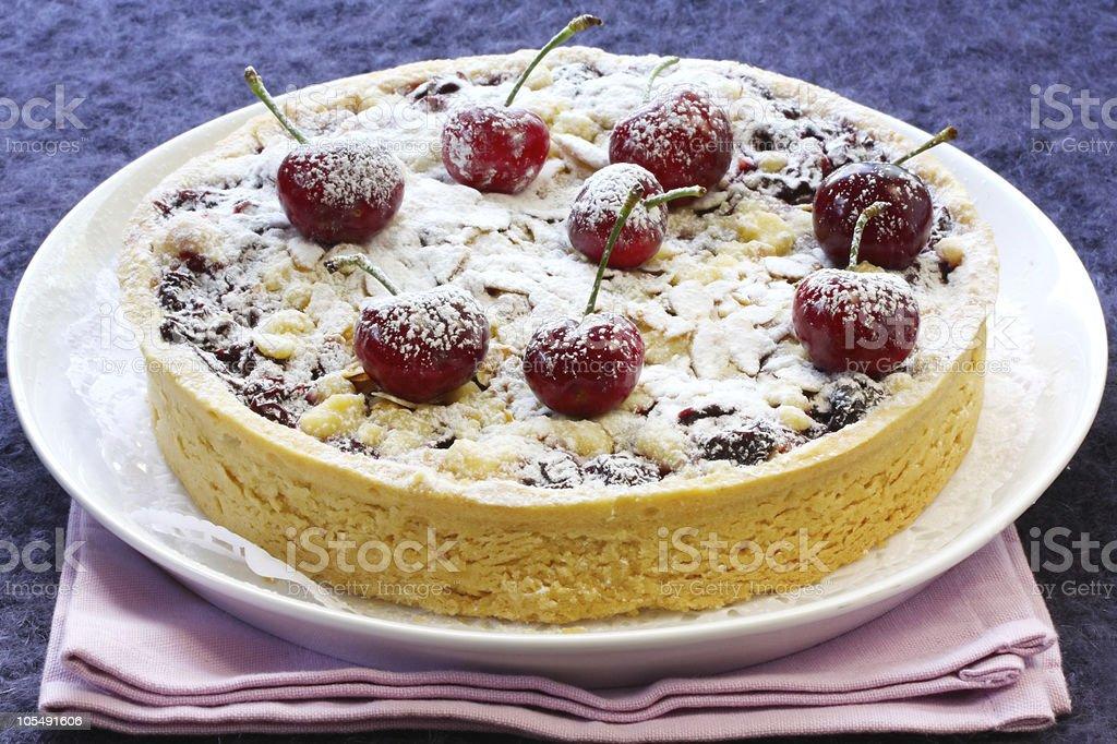 Cherry and Almond Tart stock photo