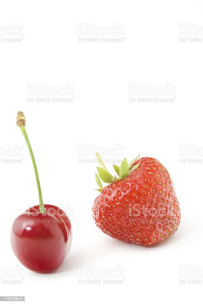 Cherry and strawberry royalty-free stock photo