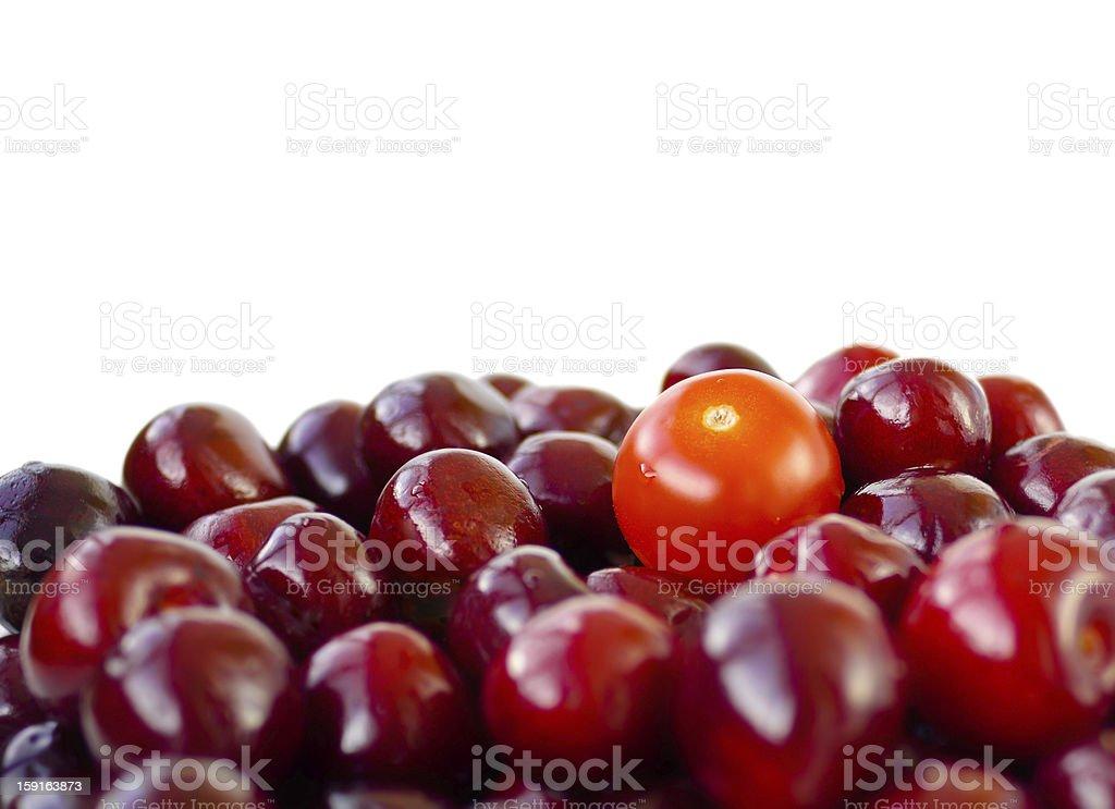 Cherry and tomato stock photo