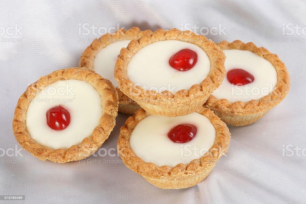 cherry bakewells stock photo