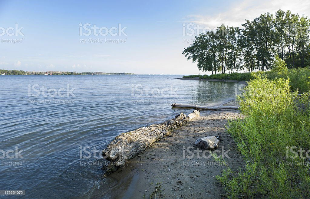 Cherry Beach , Toronto stock photo