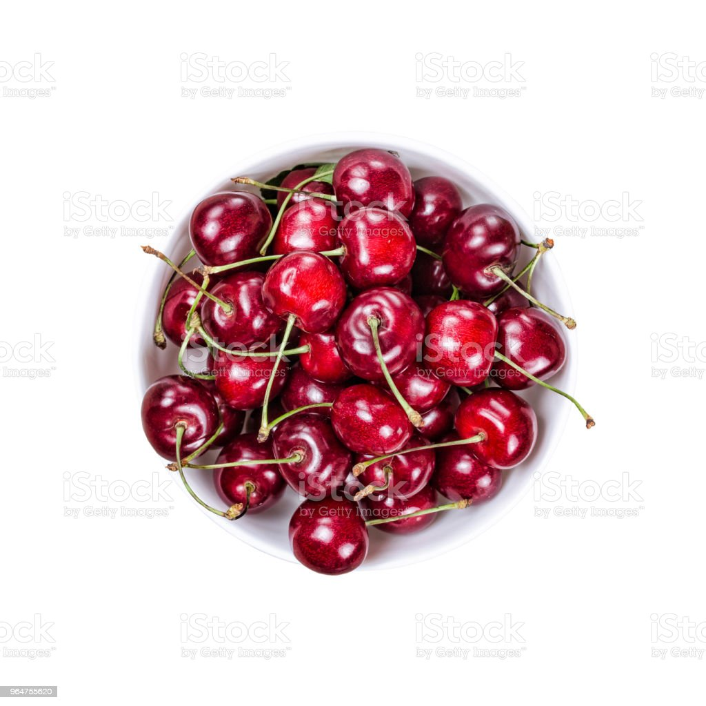 cherry berries, food, delicious, health, isolated, white background. copy space, design layout royalty-free stock photo