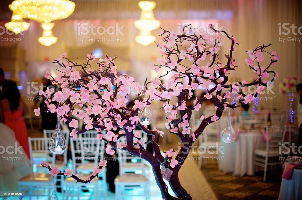 Cherry Blossom Wedding stock photo