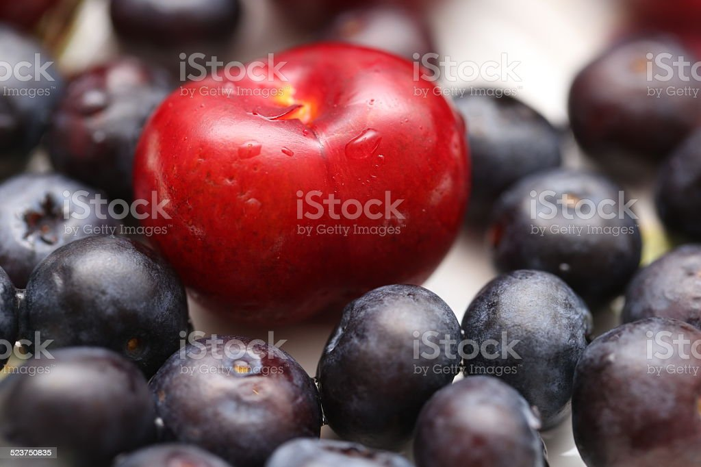 Cherry & blueberry stock photo