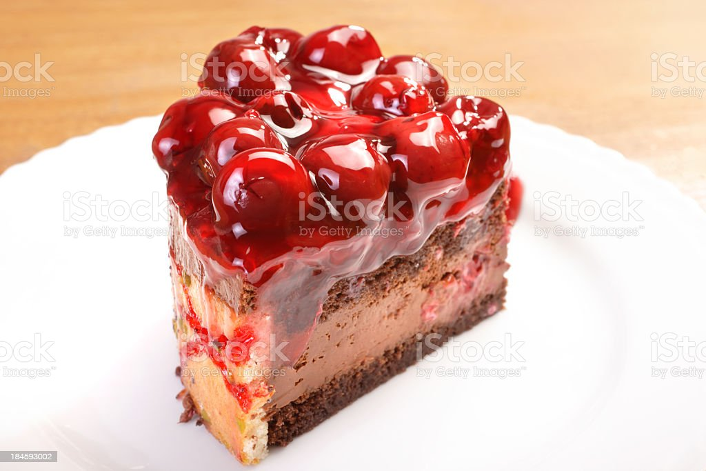 cherry cake royalty-free stock photo