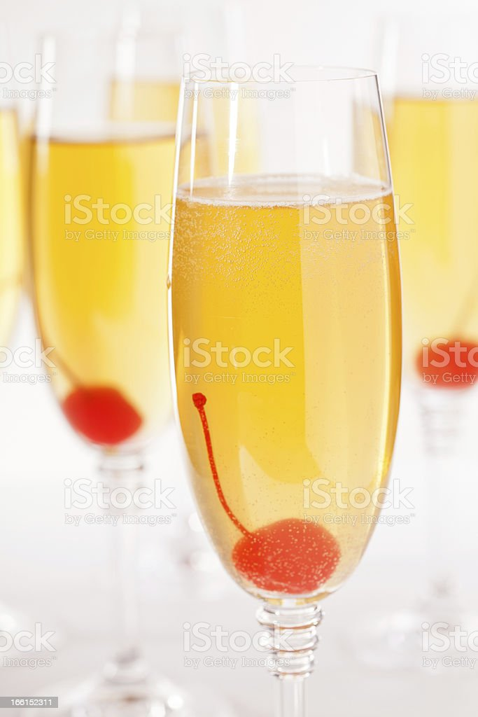 Cherry Champagne royalty-free stock photo