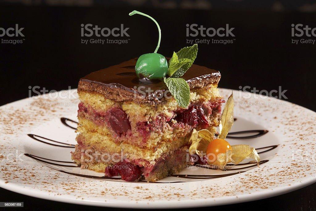 cherry cheesecake chocolate royalty-free stock photo