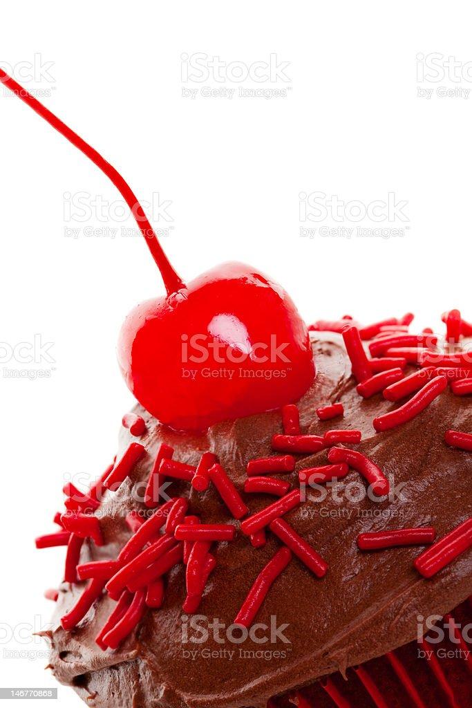 Cherry Chocolate Macro stock photo