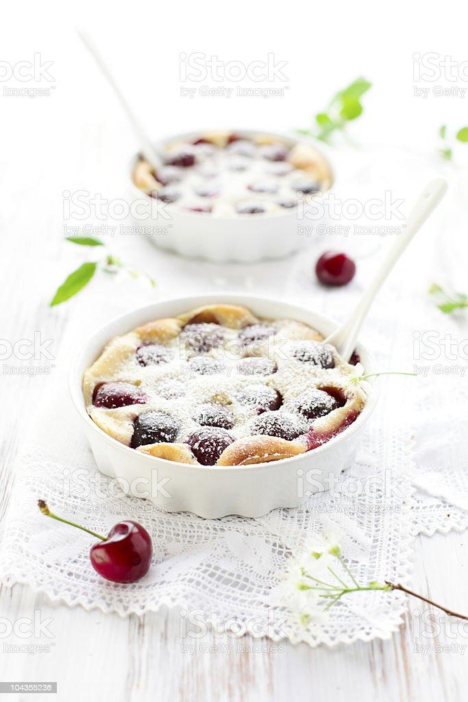 Cherry Clafoutis stock photo