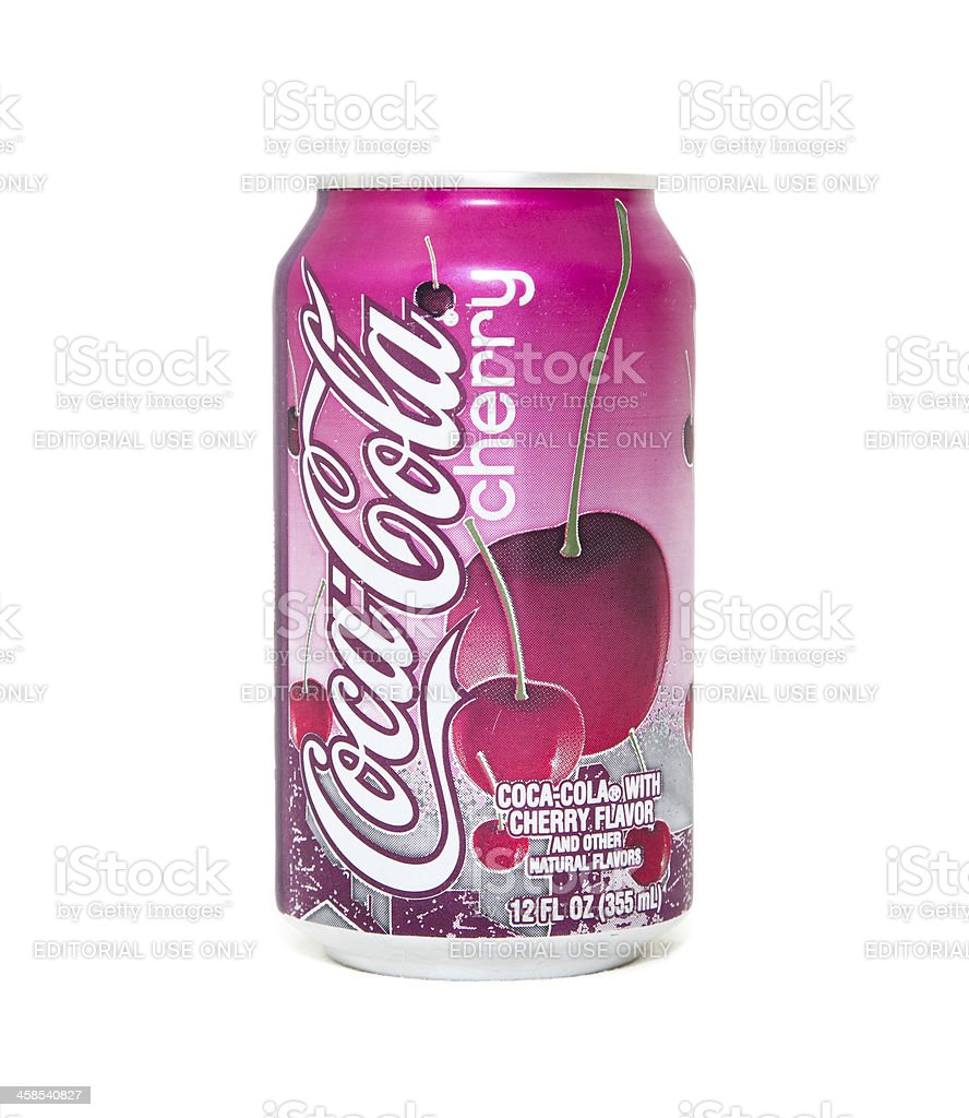 Cherry Coca-Cola Can royalty-free stock photo