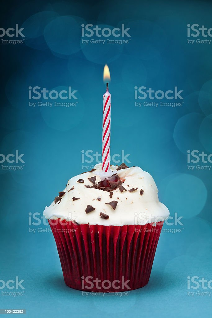 Cherry cupcake royalty-free stock photo