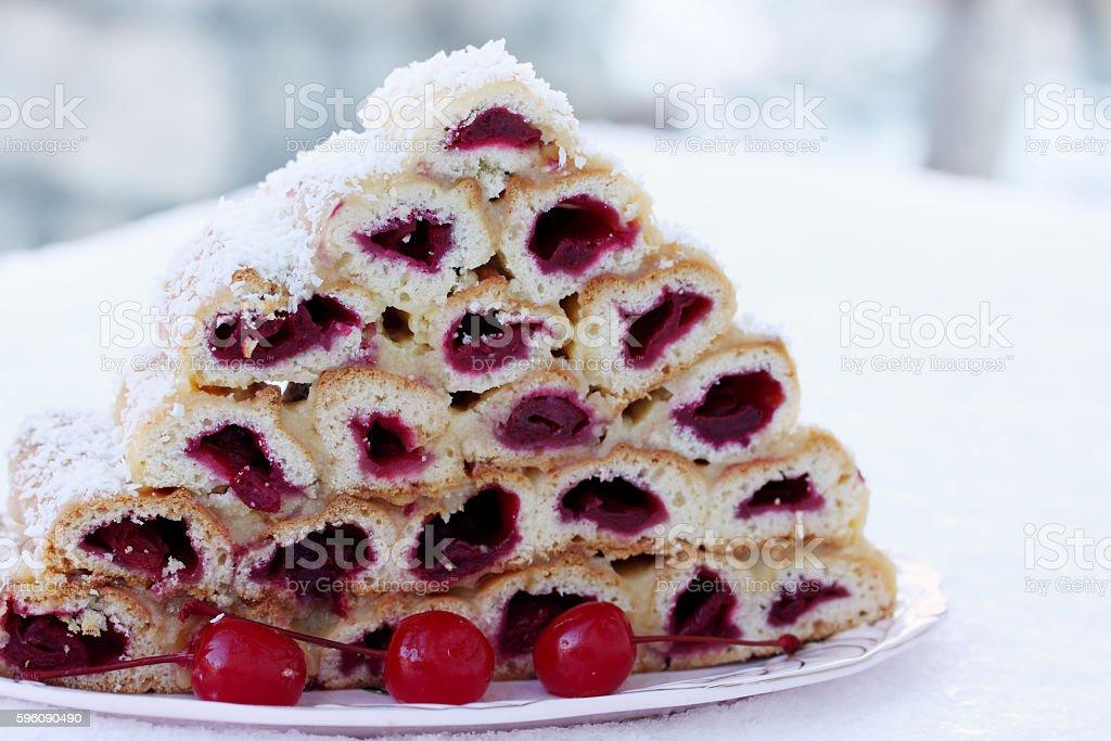 cherry dessert royalty-free stock photo