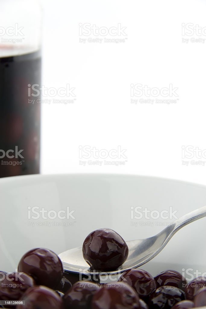 Cherry from a jar royalty-free stock photo