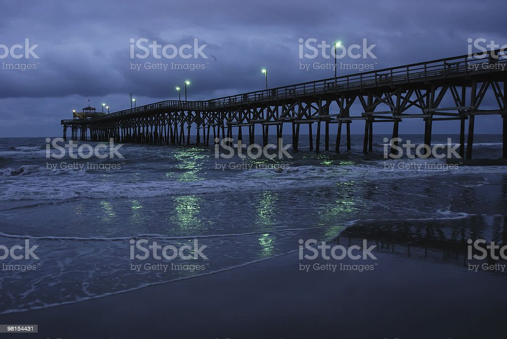 Cherry Grove a Myrtle Beach Fishing Pier foto stock royalty-free