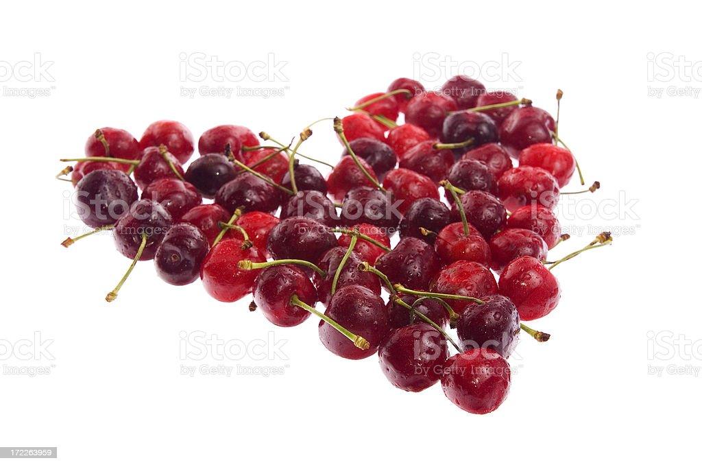 Cherry heart royalty-free stock photo
