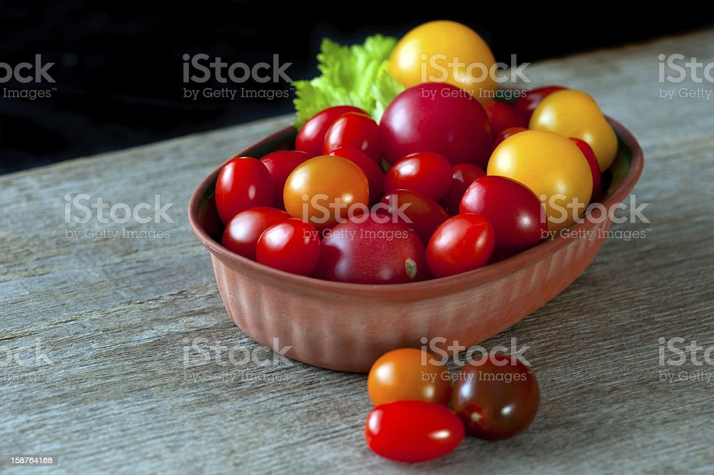 Cherry Heirloom Tomatoes royalty-free stock photo