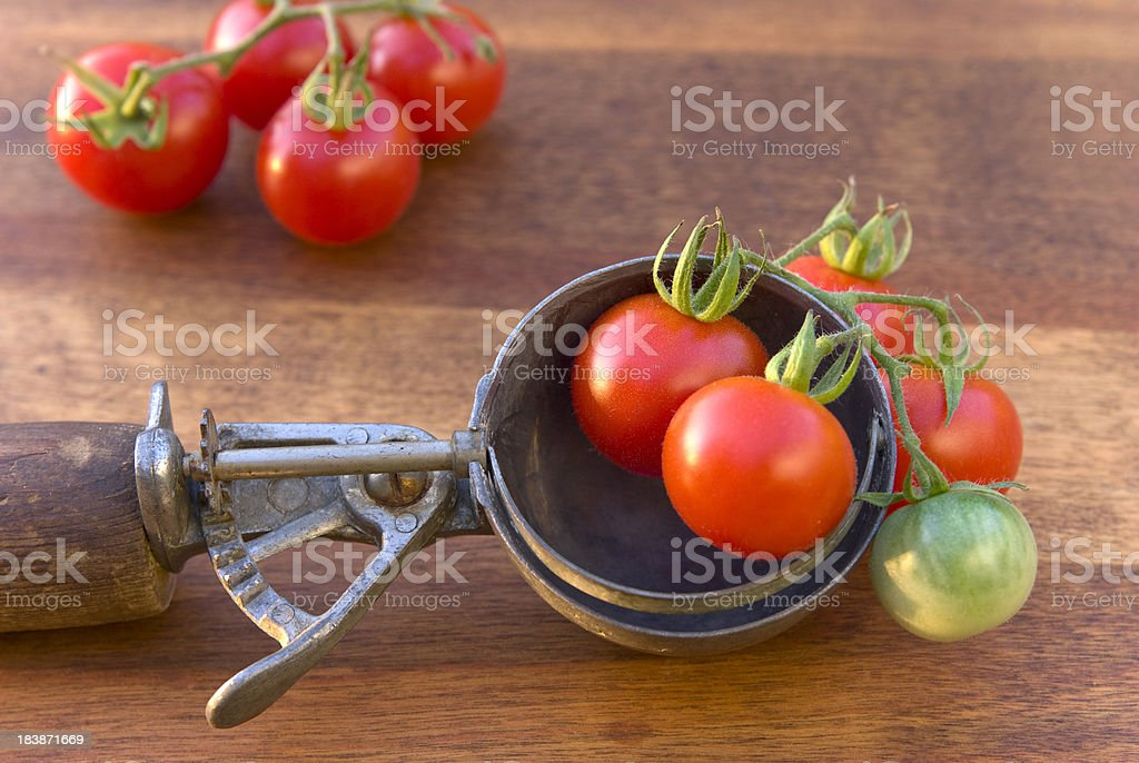 Cherry Heirloom Tomatoes royalty-free stock photo