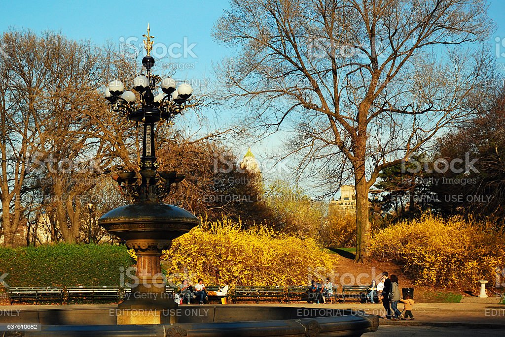 Cherry Hill, Central Park stock photo