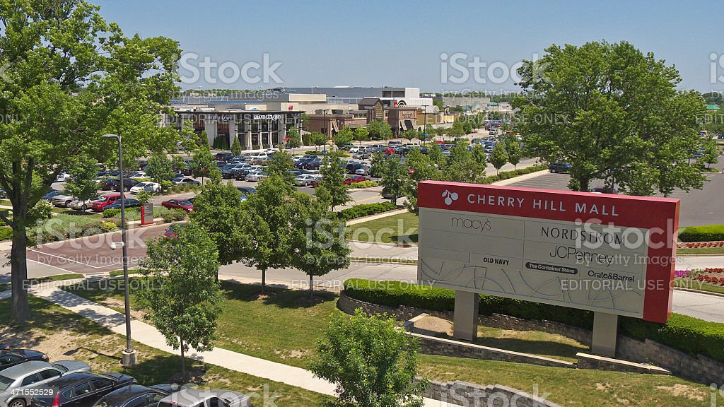 Cherry Hill Mall entrance. stock photo