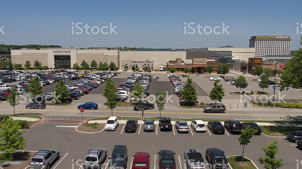 Cherry Hill Mall / parking. stock photo