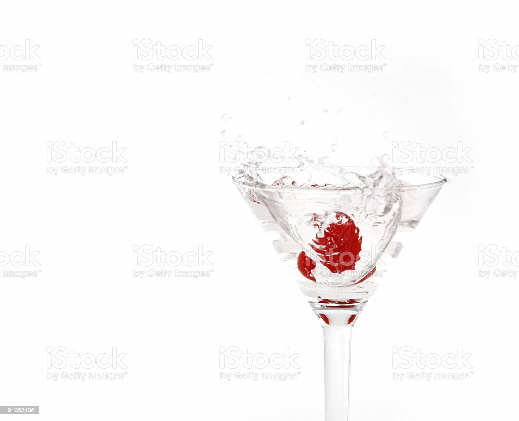Cherry in a Martini Glass royalty-free stock photo