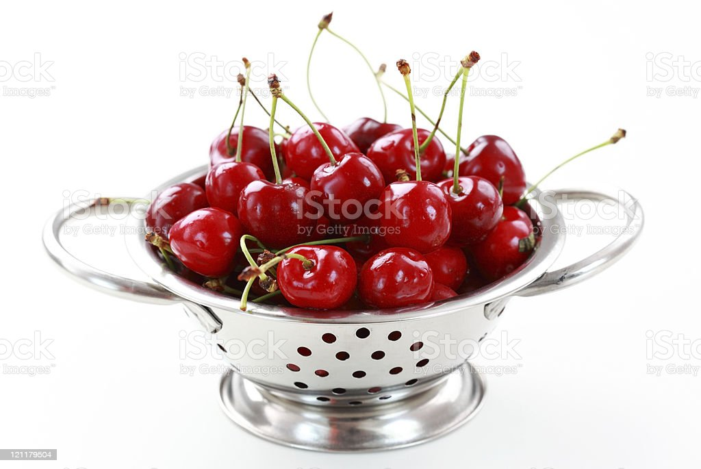 Cherry in bowl stock photo