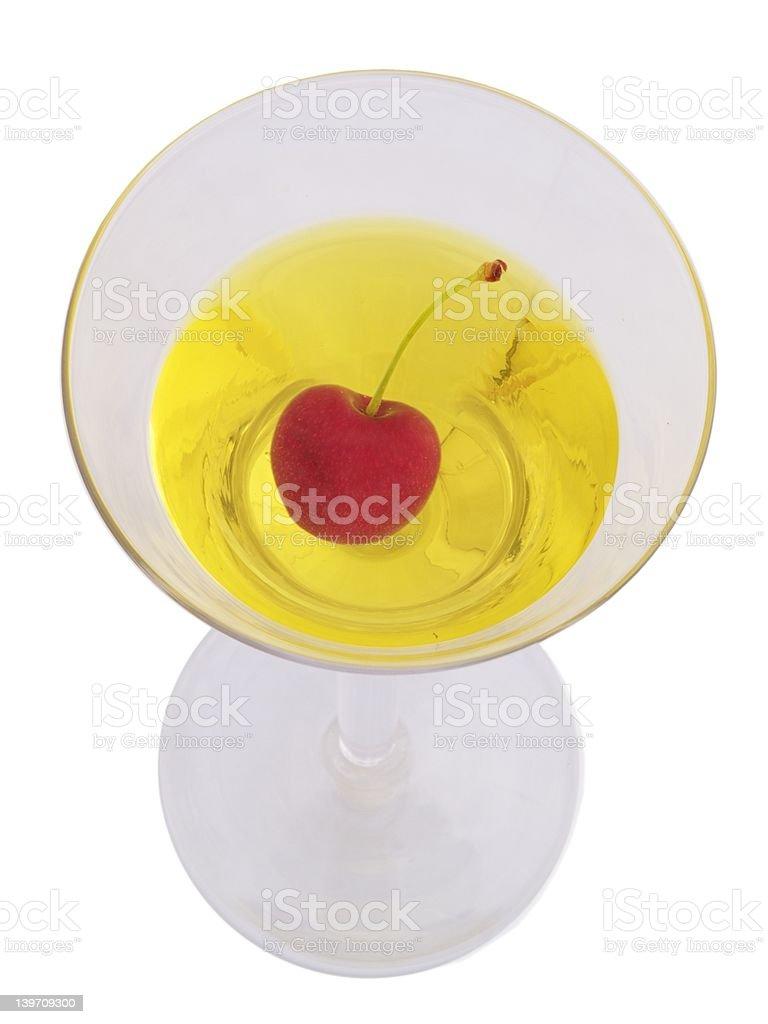 Cherry in martini royalty-free stock photo
