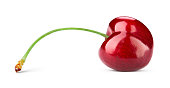Cherry isolated. Cherry on white background. With clipping path.