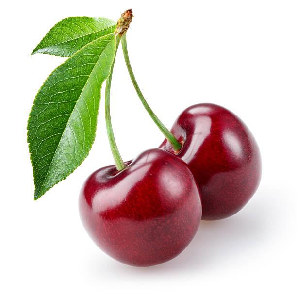 cherry isolated on white background - 車厘子 個照片及圖片檔