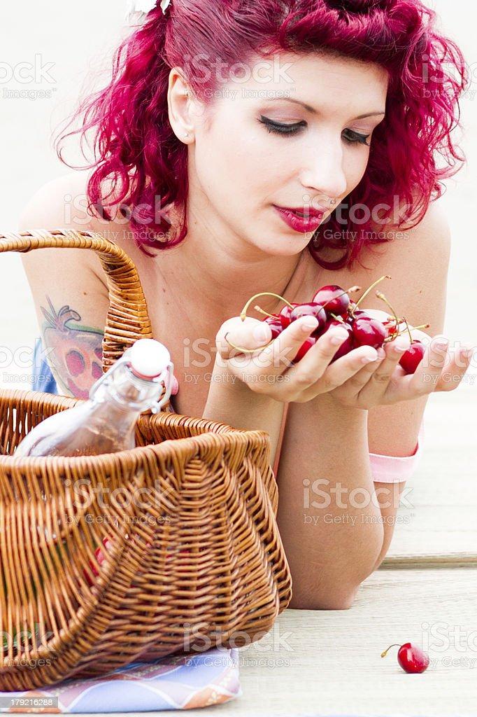 Cherry Lady Stock Photo - Download Image Now - iStock