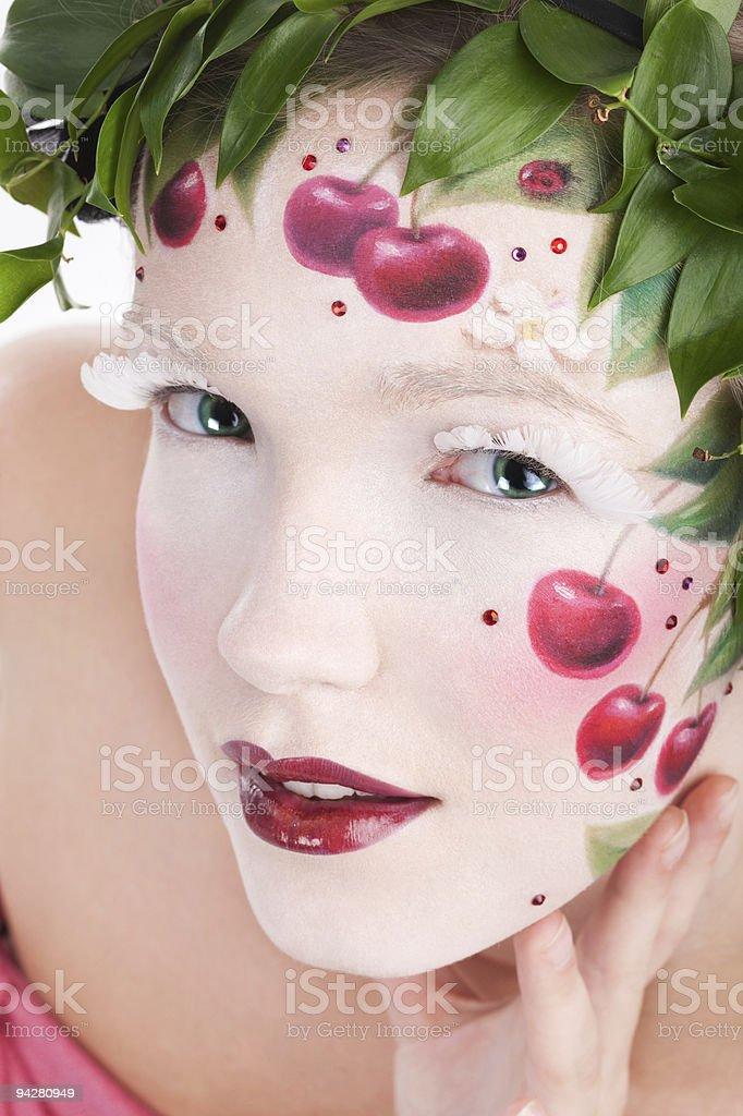 Cherry lips royalty-free stock photo