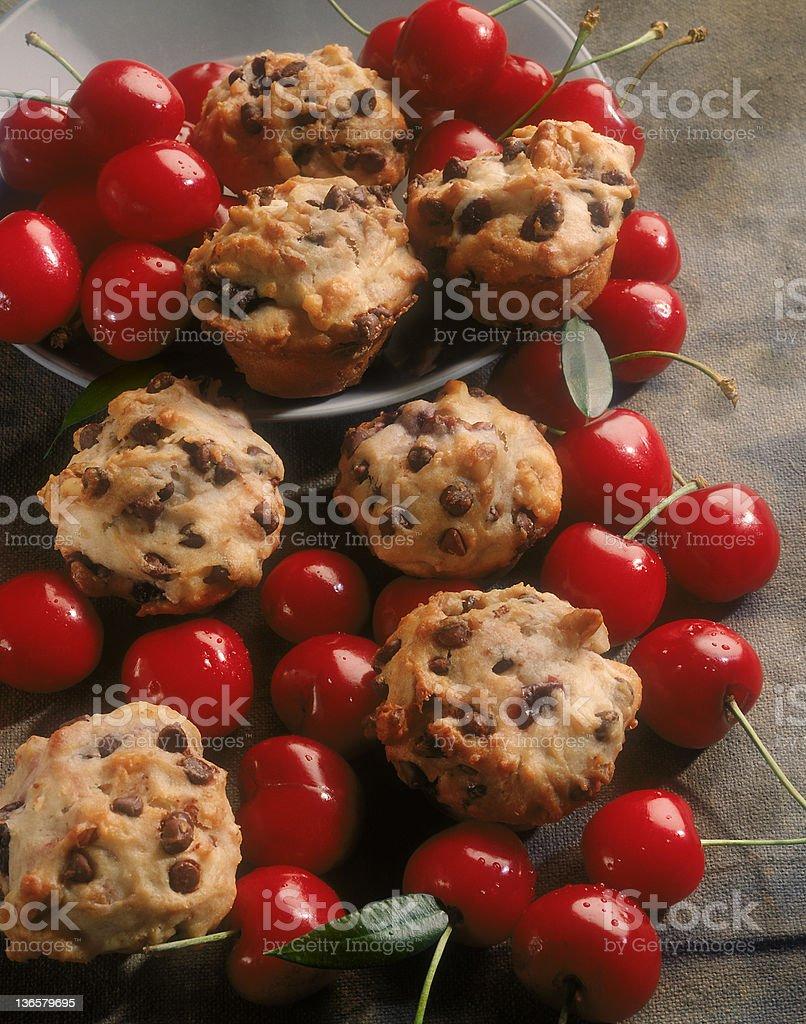 Cherry Muffins royalty-free stock photo
