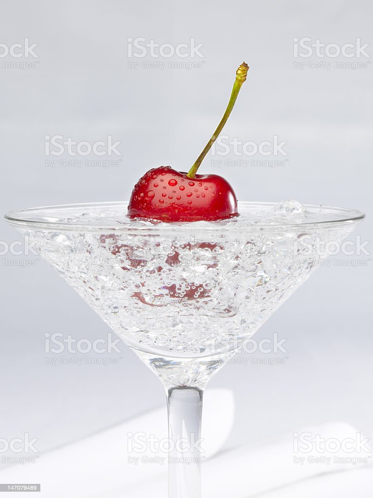 cherry on cocktail royalty-free stock photo