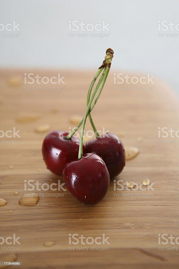 cherry on wood royalty-free stock photo