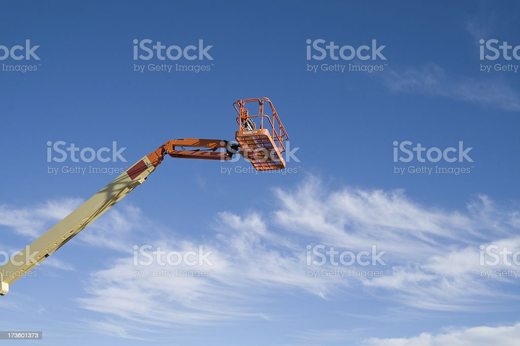 Cherry Picker in the sky royalty-free stock photo