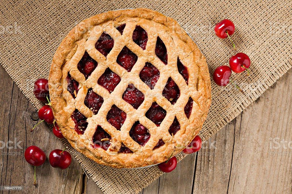 Cherry Pie And Fresh Organic Cherries stock photo