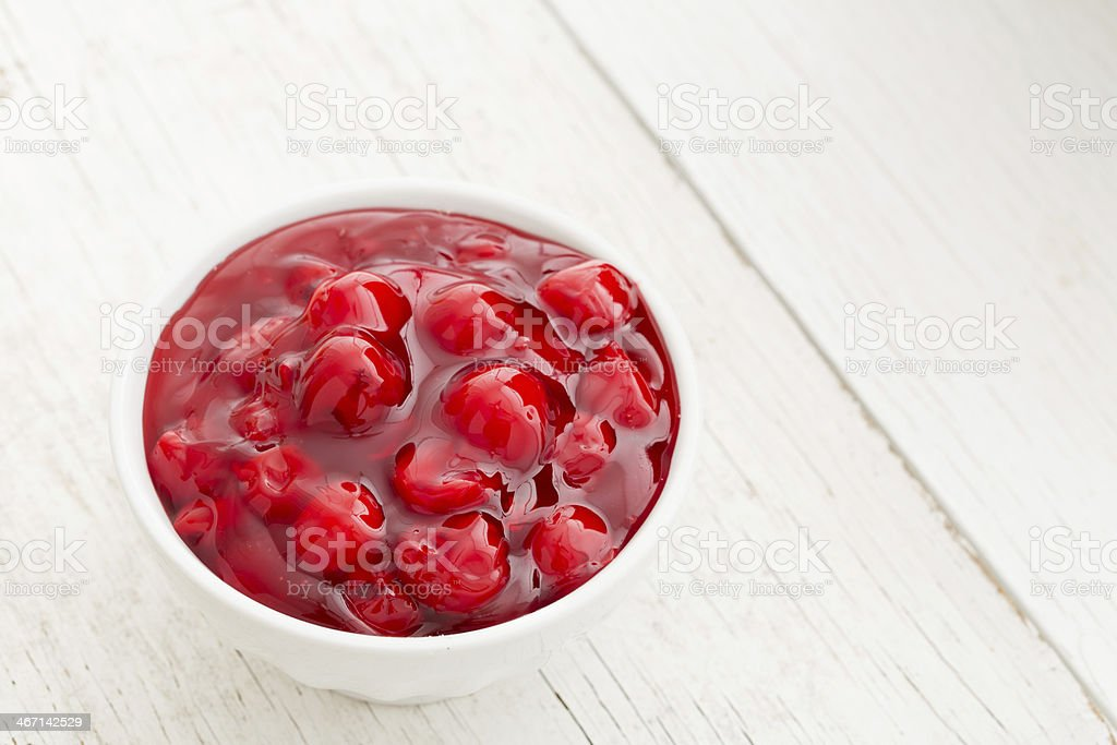 Cherry Pie Filling stock photo
