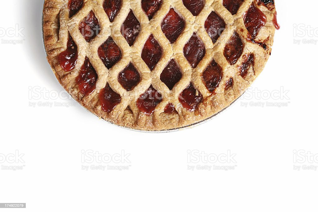 Cherry Pie on White royalty-free stock photo