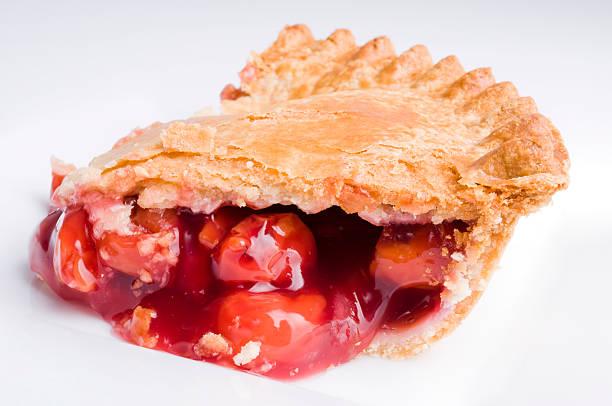 Cherry Pie Slice stock photo
