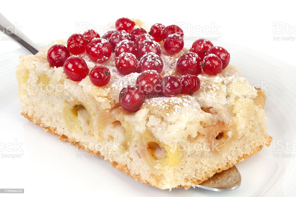 Cherry Pie with Red Currant royalty-free stock photo