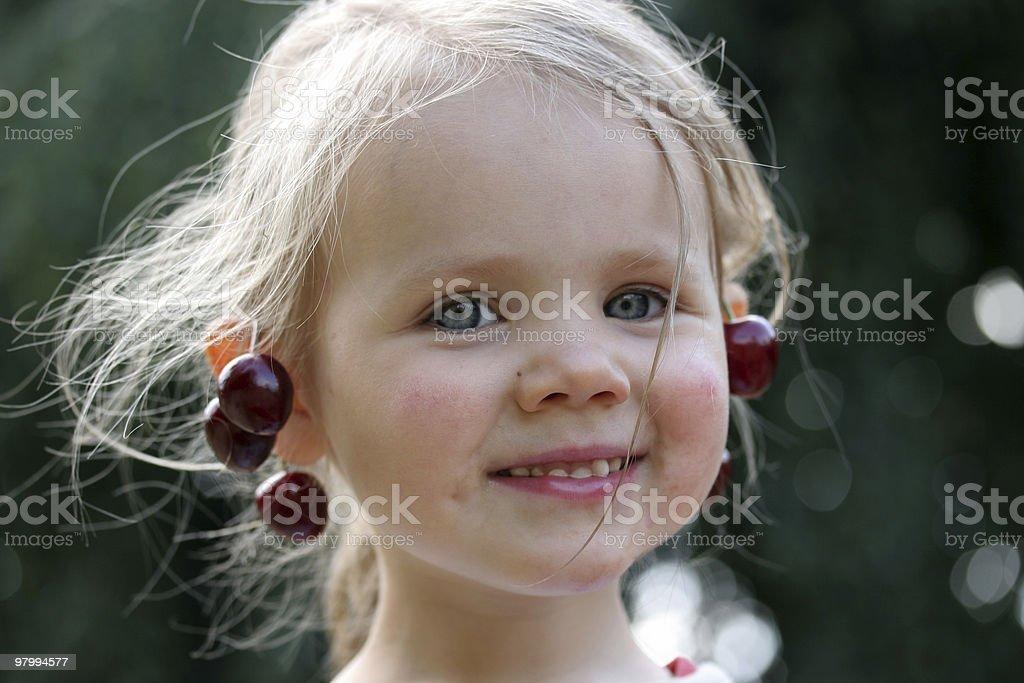 Cherry queen royalty free stockfoto