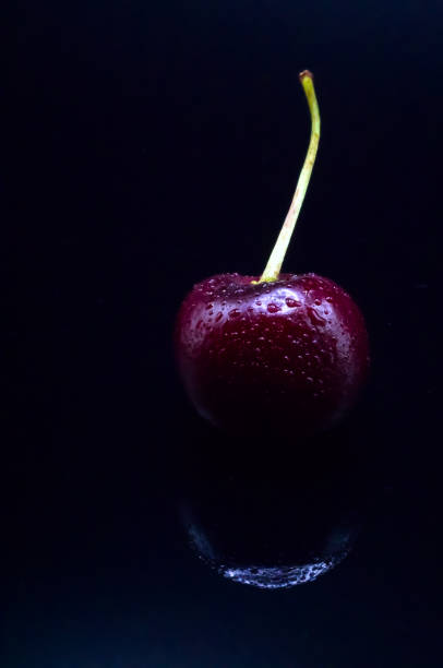 Cherry Reflection stock photo