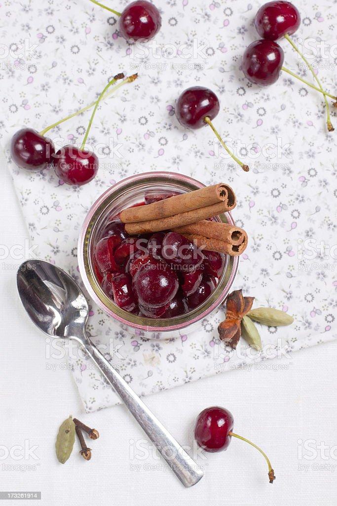 Cherry sauce royalty-free stock photo