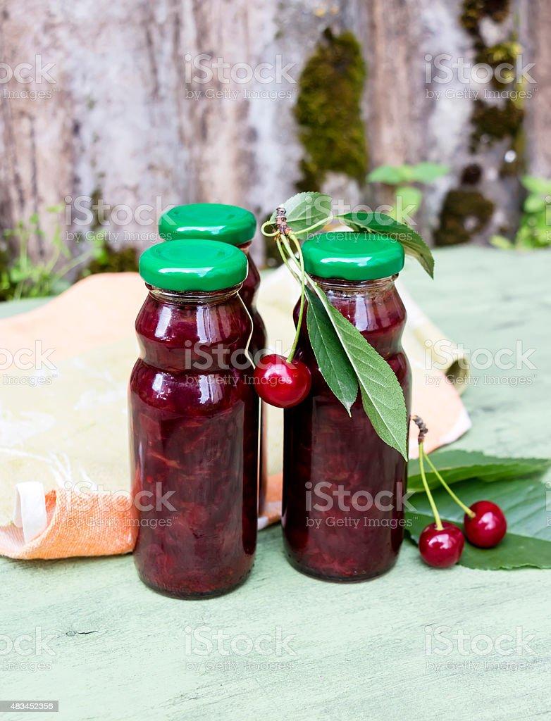 Cherry sauce stock photo
