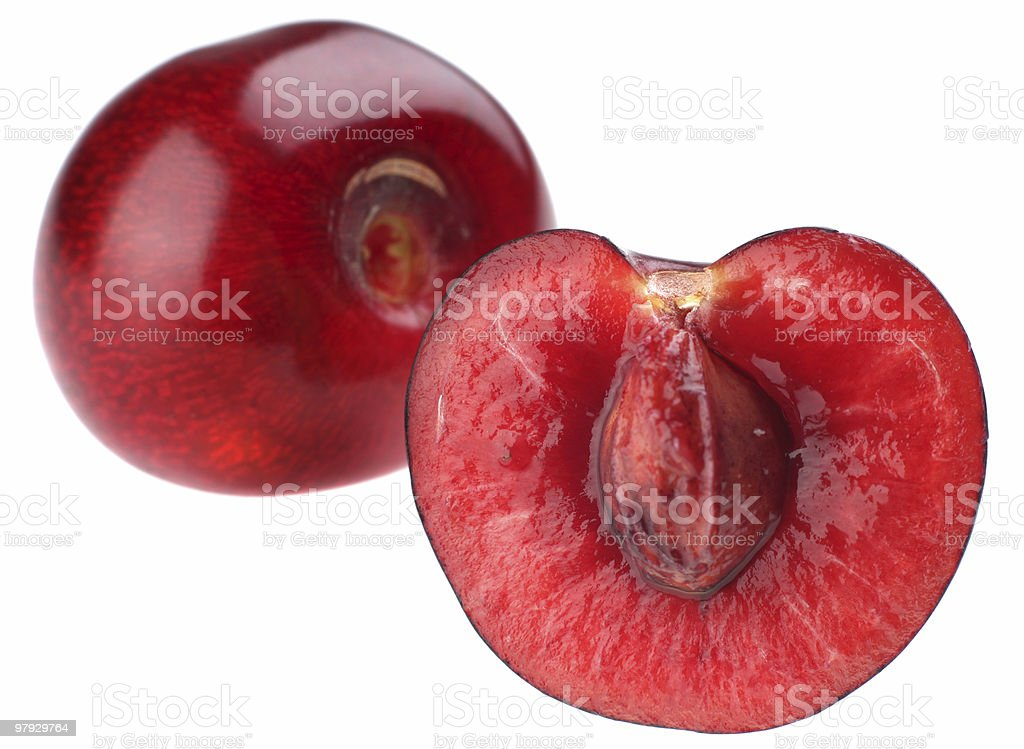 Cherry slice royalty-free stock photo