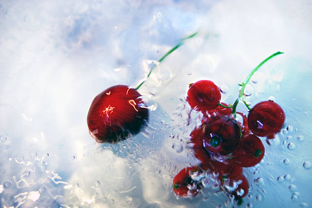 Cherry Splash stock photo