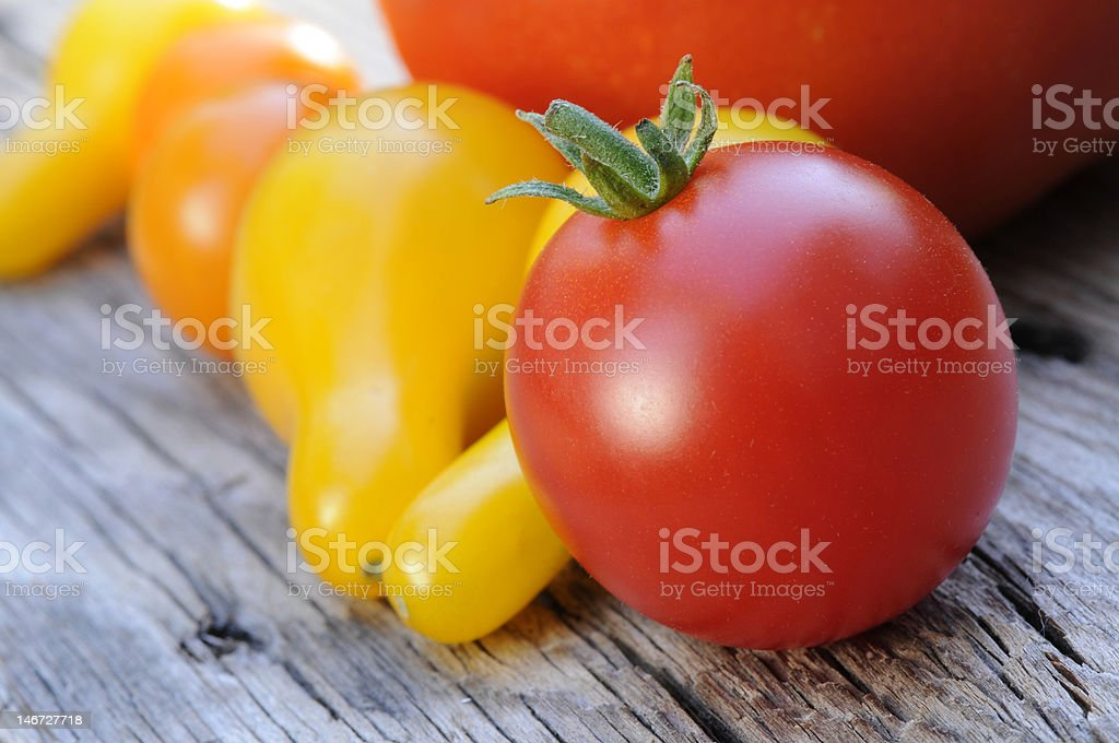 Cherry Tomato and Yellow Pear Tomatoes stock photo