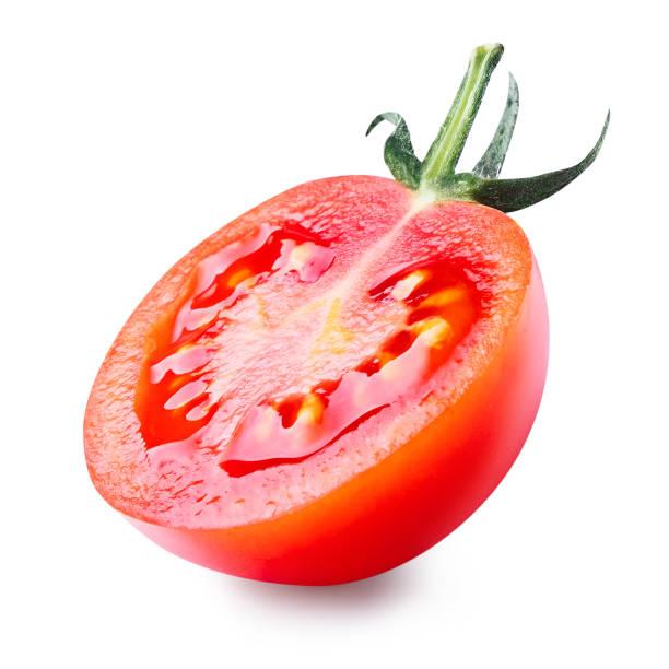 Cherry tomato isolated on white background. stock photo