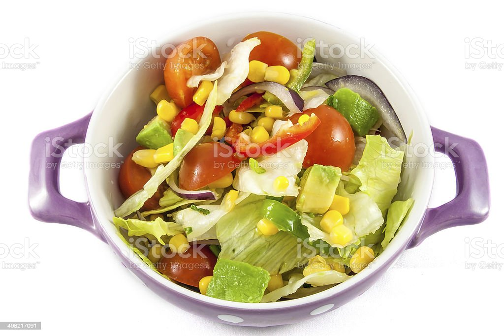 Cherry tomatoes and iceberg lettuce salad royalty-free stock photo