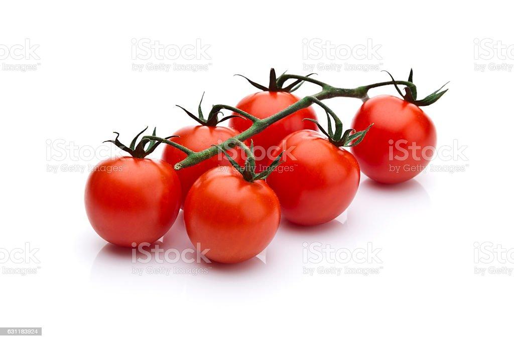 Cherry tomatoes branch stock photo